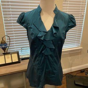 Express turquoise top size Medium